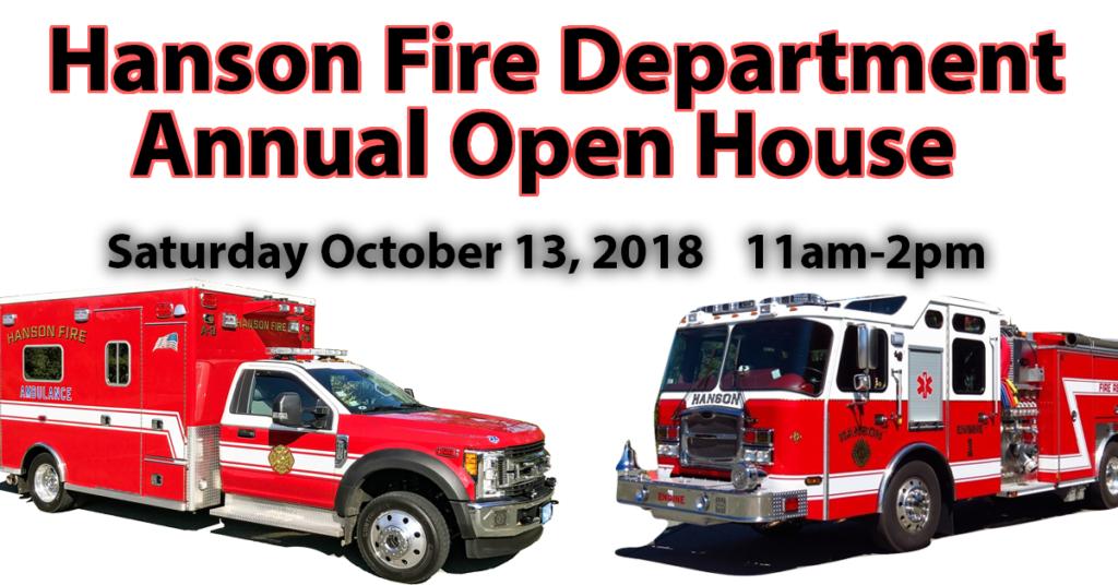 Hanson Fire Open House 2018